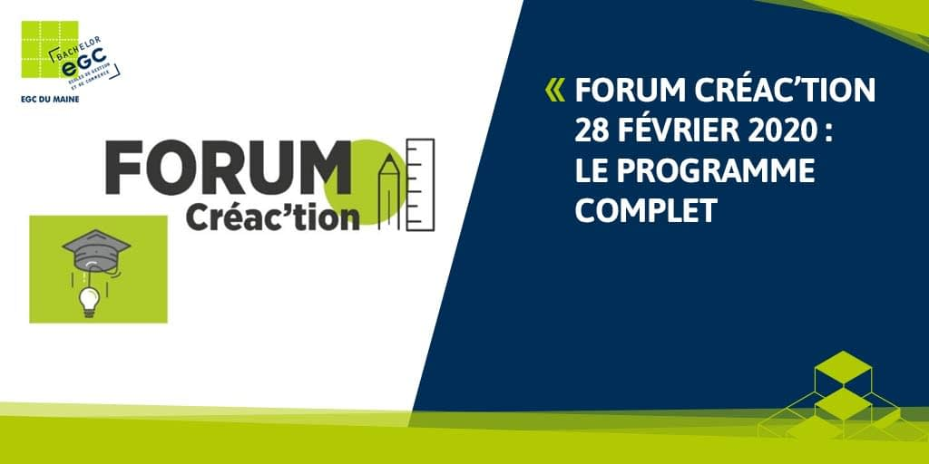 You are currently viewing FORUM CREA'CTION 2020 : le programme complet