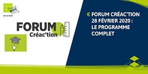 Read more about the article FORUM CREA'CTION 2020 : le programme complet