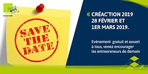 Read more about the article [EVENEMENT] Inscrivez-vous dès maintenant à Créac'tion 2019