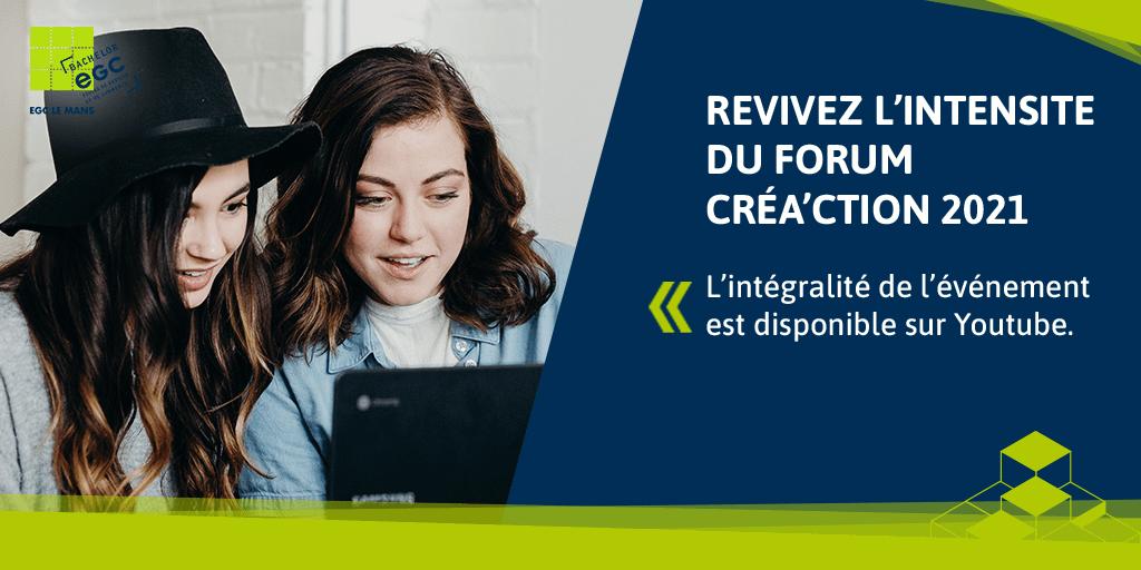 Read more about the article Revivez l'intensité du Forum Créa'ction 2021