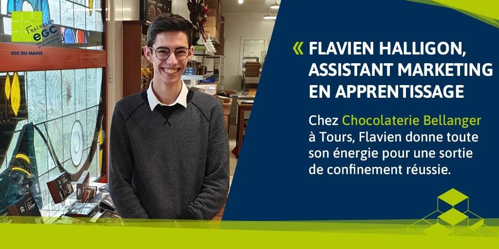 You are currently viewing Flavien Halligon, assistant marketing chez un chocolatier d'exception au Mans.