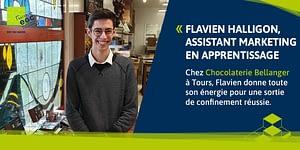 Read more about the article Flavien Halligon, assistant marketing chez un chocolatier d'exception au Mans.